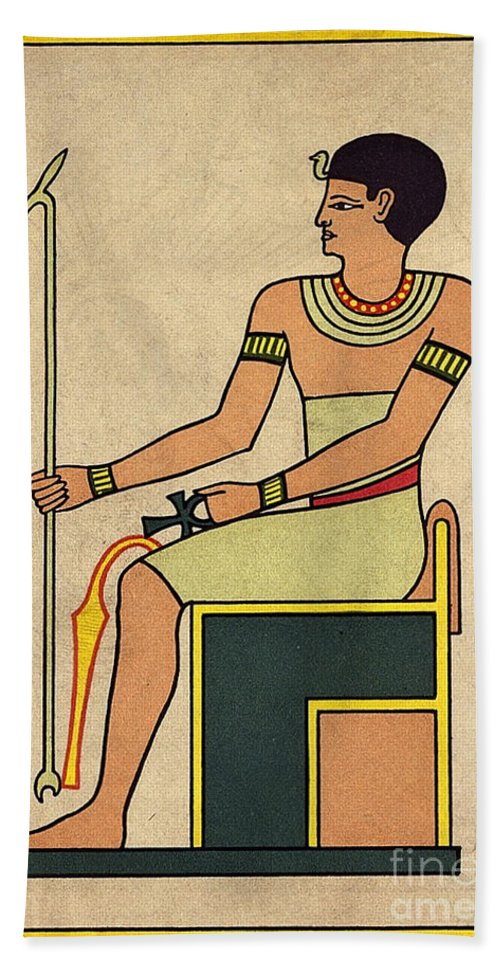 Science Hand Towel featuring the photograph Imhotep, Egyptian Polymath by Wellcome Images