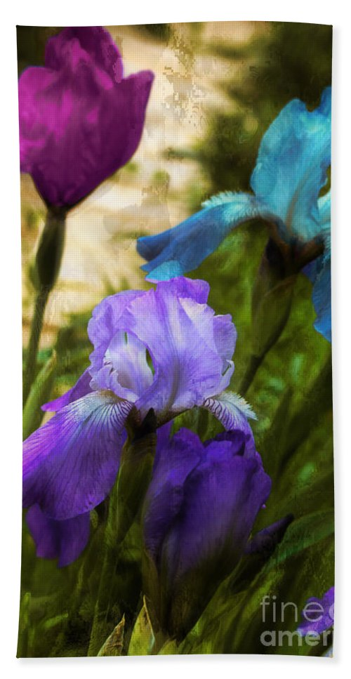 Irises Hand Towel featuring the photograph Impossible Irises by Mindy Sommers