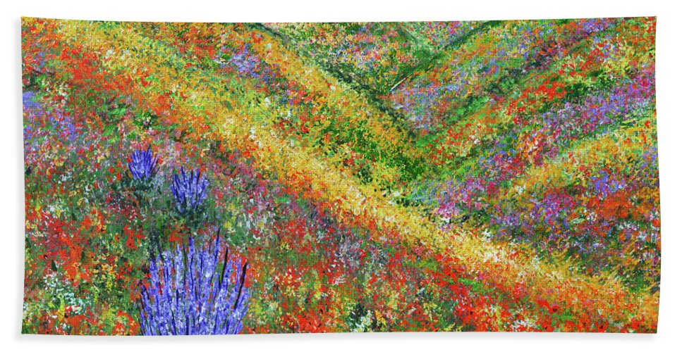 Fart Hand Towel featuring the painting Impressionism- Flowers- Dreaming Of Spring by Kathy Symonds