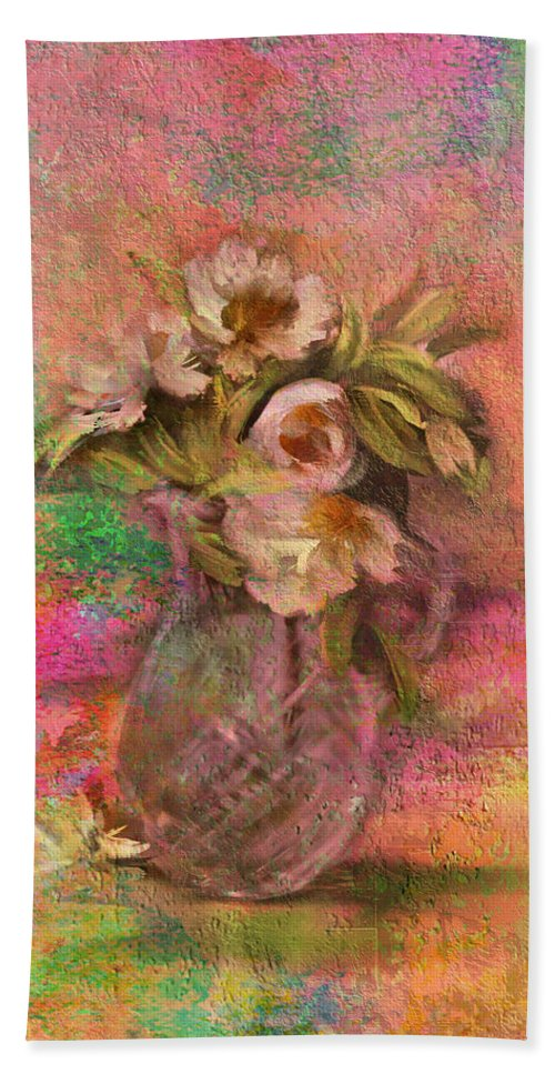 Impressionism Hand Towel featuring the photograph Impressionistic Still Life by Carla Parris