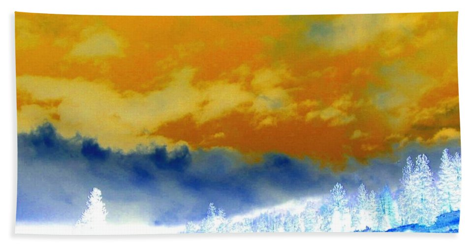 Impressions Bath Towel featuring the digital art Impressions 2 by Will Borden