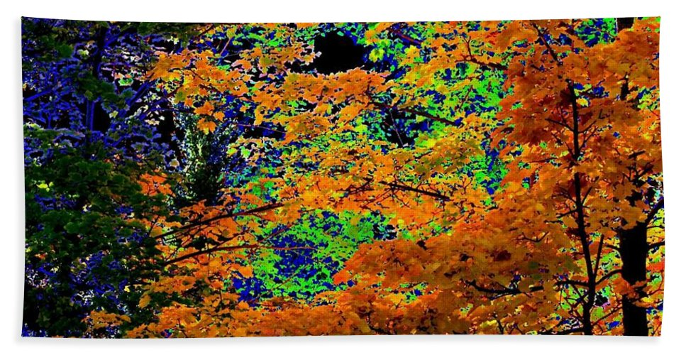 Impressions Bath Sheet featuring the digital art Impressions 3 by Will Borden