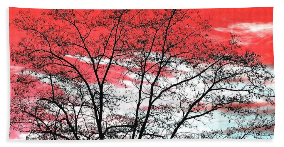 Impressions Hand Towel featuring the digital art Impressions 6 by Will Borden