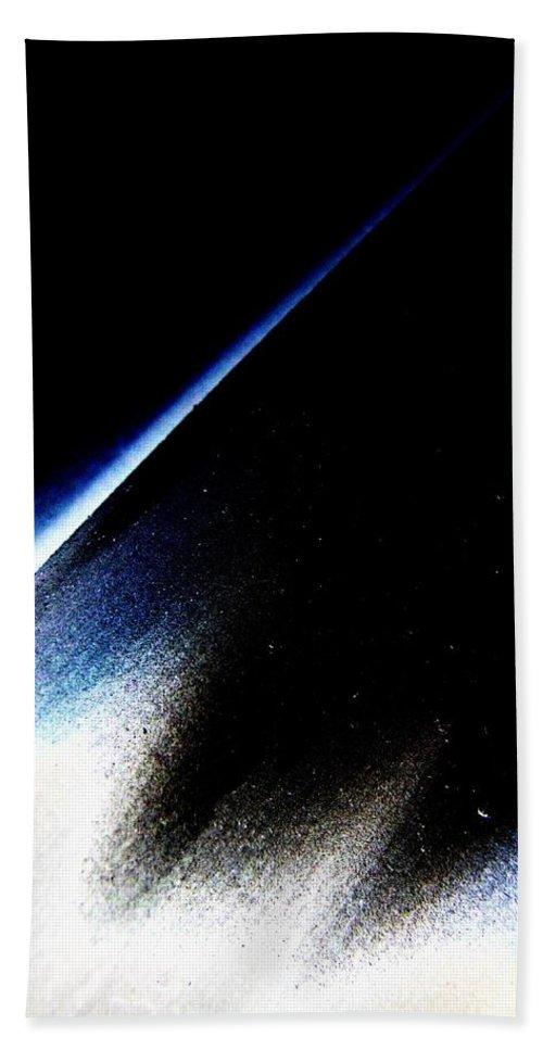 Blue Hand Towel featuring the digital art In A Blue Streak by Tim Allen