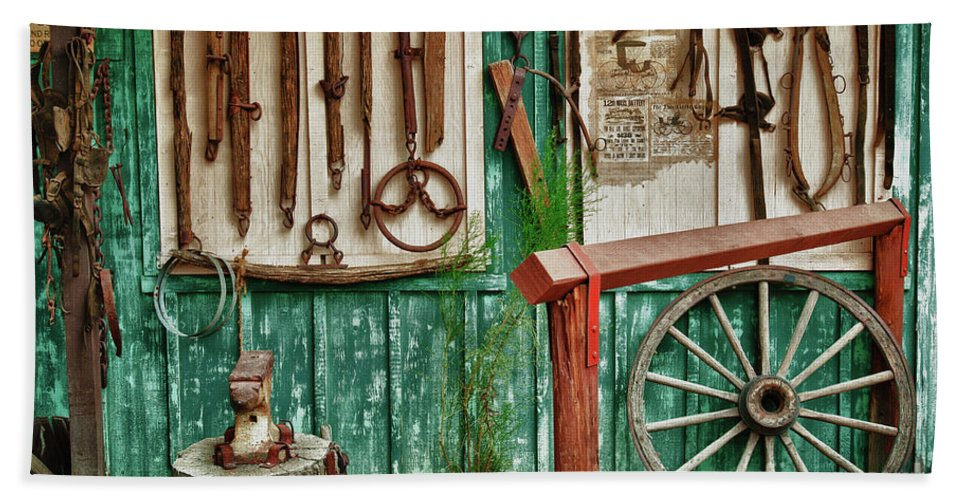 Hdr Bath Sheet featuring the photograph In Another Time by Sandra Bronstein
