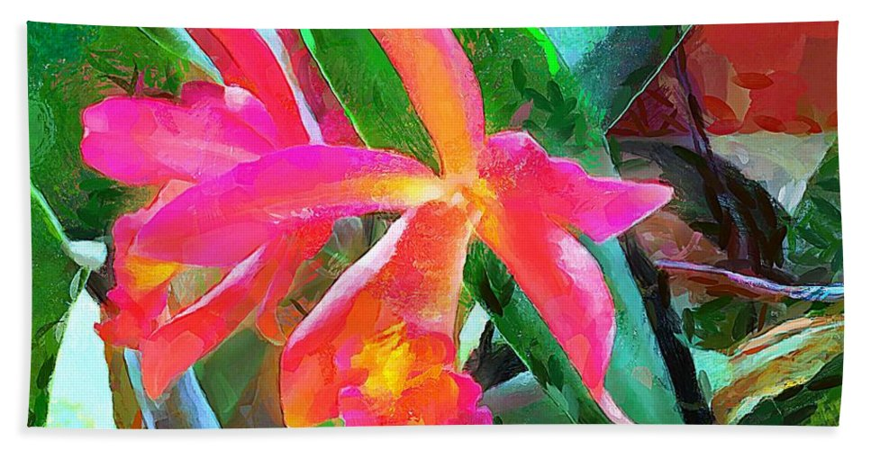 Flowers Bath Sheet featuring the painting In Bloom by Wayne Pascall