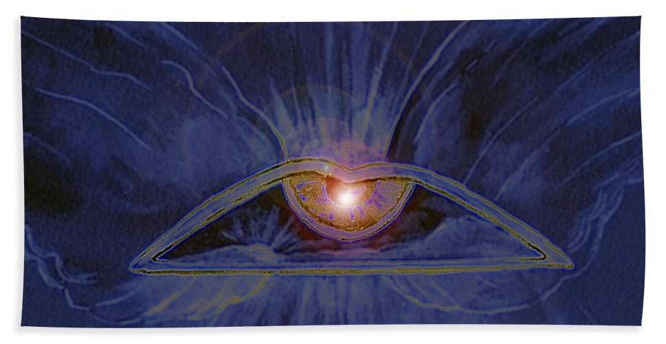 Watercolor Bath Towel featuring the painting In Dream's Eye by Brenda Owen