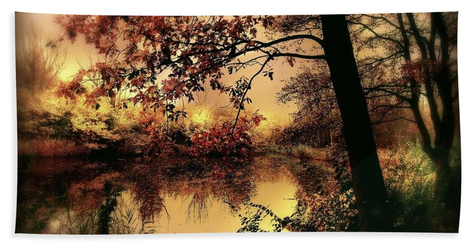 Autumn Bath Towel featuring the photograph In Dreams by Jacky Gerritsen