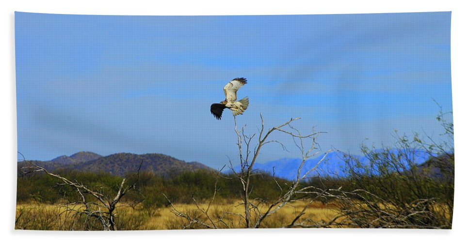 Large Hand Towel featuring the photograph In Flight by Teresa Stallings