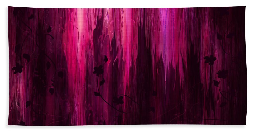 Abstract Bath Sheet featuring the digital art In His Presence by Rachel Christine Nowicki