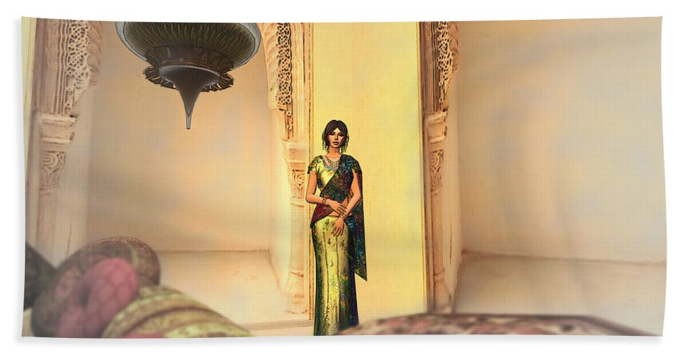India Bath Towel featuring the digital art In India 2 by Brainwave Pictures