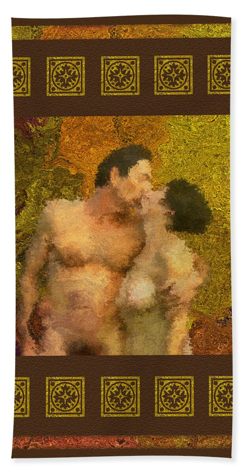 Nudes Bath Towel featuring the photograph In Love by Kurt Van Wagner