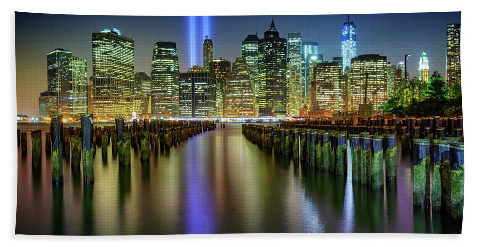 New York City Hand Towel featuring the photograph In Memoriam by Rick Berk