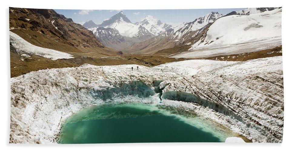 Art Bath Towel featuring the photograph In The Depth Of Pamir by Konstantin Dikovsky