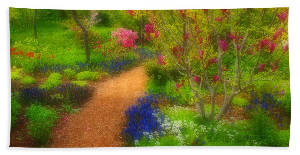 Trees Bath Sheet featuring the photograph In The Gardens by Tara Turner