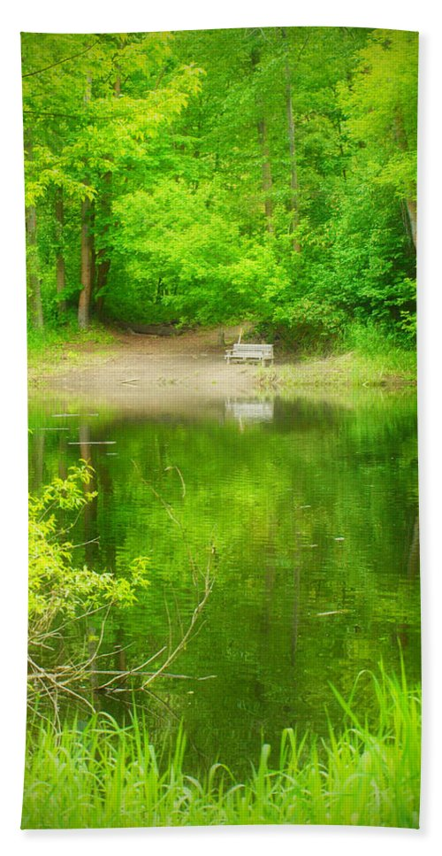 Bench Bath Sheet featuring the photograph In The Green by Tara Turner