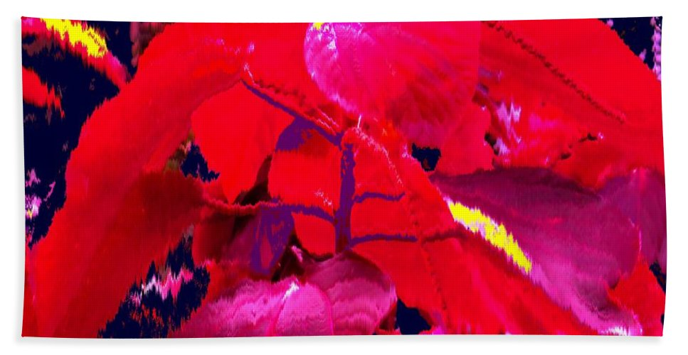 Abstract Bath Sheet featuring the photograph In The Jungle by Ian MacDonald