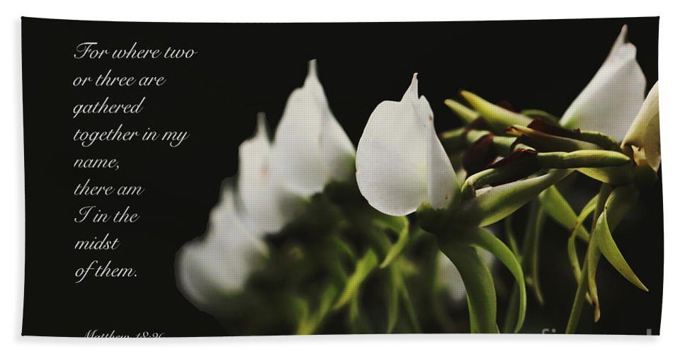 Floral Hand Towel featuring the photograph In The Midst by Debbie Nobile