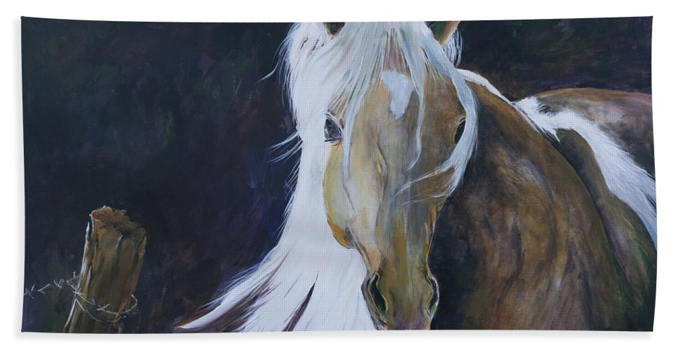 Horse Bath Sheet featuring the painting In The Moonbeam by Suzanne J Blinder