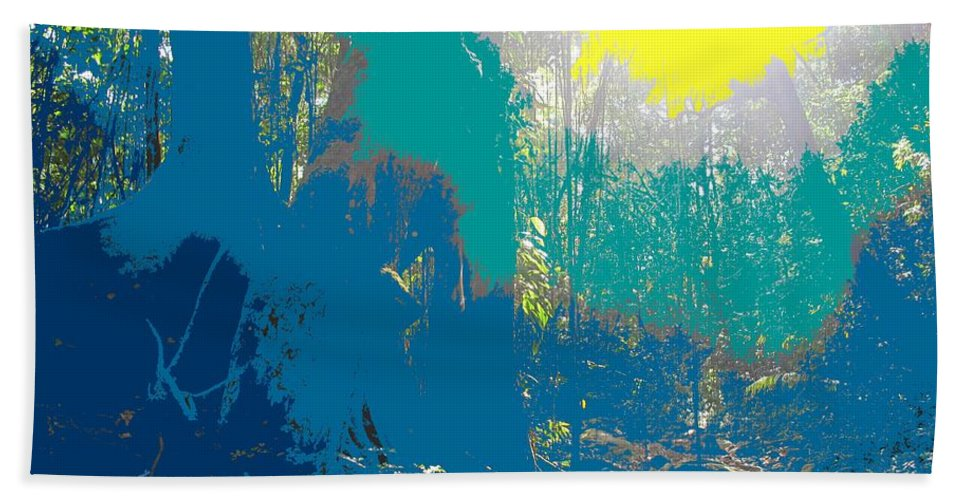 Rainforest Bath Sheet featuring the photograph In The Rainforest by Ian MacDonald