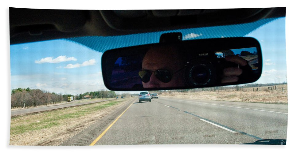 Driving Hand Towel featuring the photograph In The Road 2 by Steven Dunn