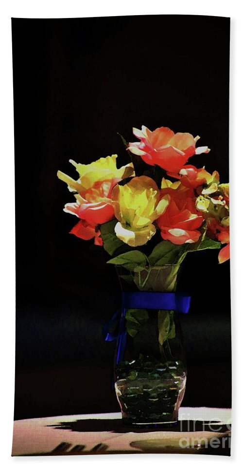 Still Life Abstract Bath Sheet featuring the photograph In The Spotlight by Craig Wood