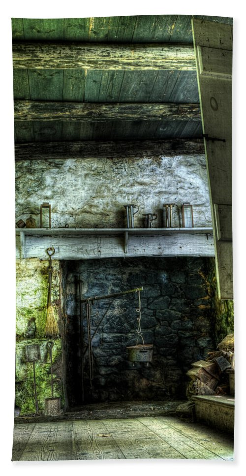 Farm Bath Sheet featuring the photograph In The Springhouse by Scott Wyatt