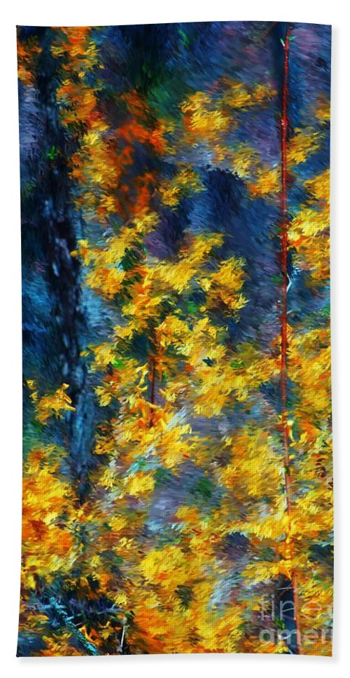 Nature Hand Towel featuring the photograph In The Woods Again by David Lane