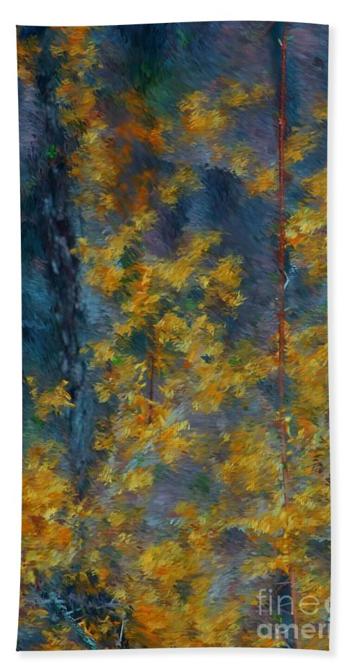 Bath Sheet featuring the photograph In The Woods by David Lane