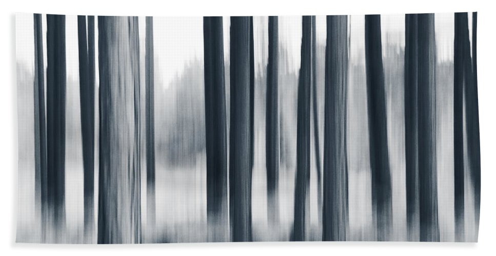 Panning Hand Towel featuring the photograph In The Woods by Dorit Fuhg