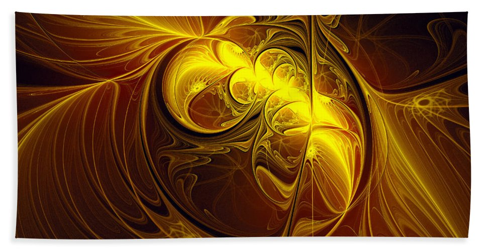 Abstract Bath Sheet featuring the digital art In Utero by Georgiana Romanovna