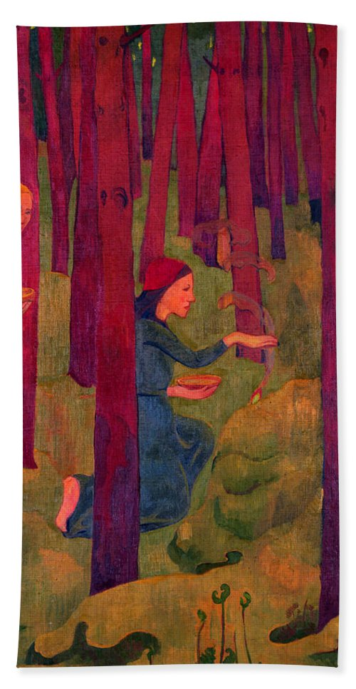Paul Serusier Hand Towel featuring the painting Incantation by Paul Serusier