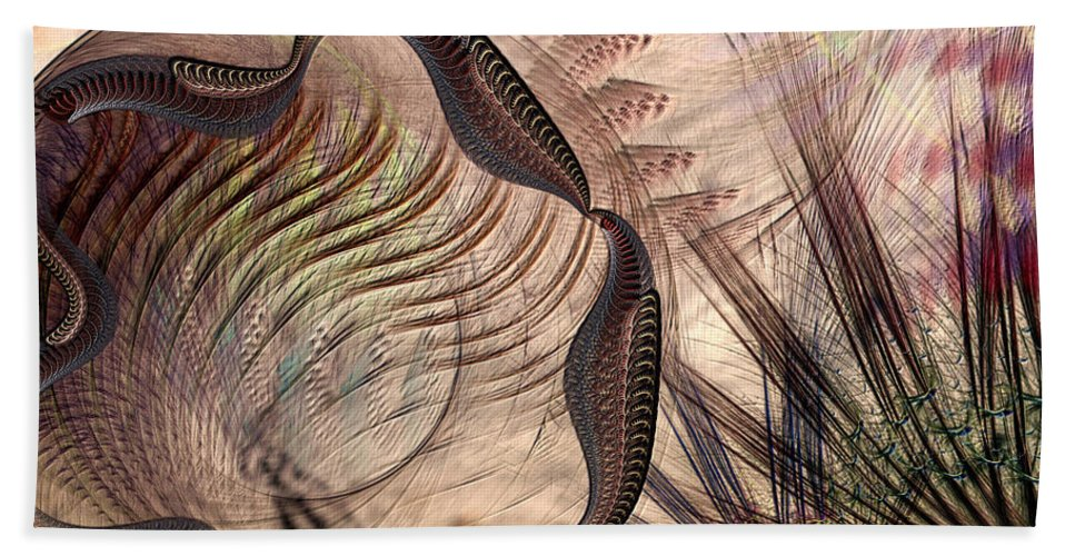Abstract Bath Towel featuring the digital art Incomprehension by Casey Kotas