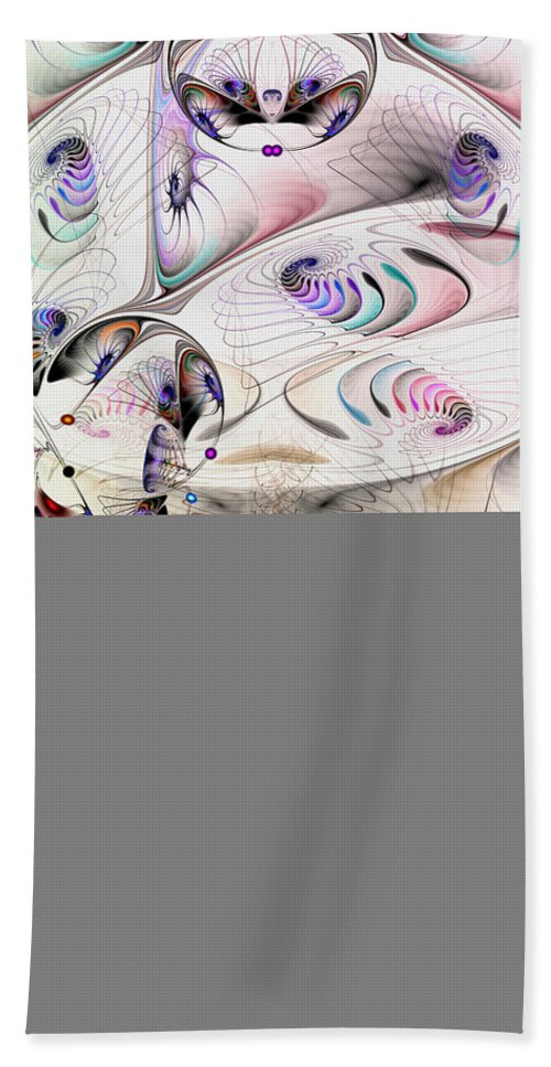 Abstract Bath Sheet featuring the digital art Inconceivable by Casey Kotas