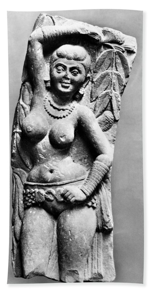 2nd Century Hand Towel featuring the photograph India: Jain Sculpture by Granger