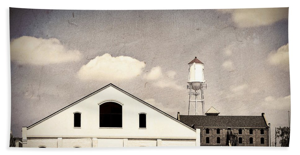Indiana Hand Towel featuring the photograph Indiana Warehouse by Amber Flowers