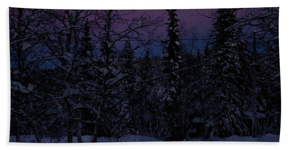Lappland Hand Towel featuring the photograph Indigo by Maria Joy