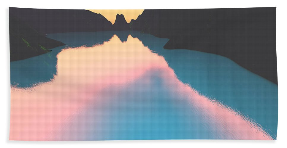 Crater Bath Sheet featuring the digital art Indonesian Crater Lakes II by Gaspar Avila