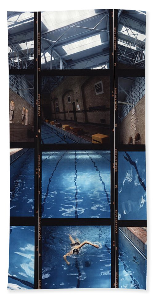 Pool Bath Sheet featuring the photograph Indoor Pool by Steve Williams