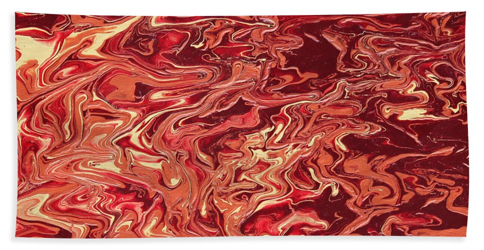 Fusionart Bath Sheet featuring the painting Indulgence by Ralph White
