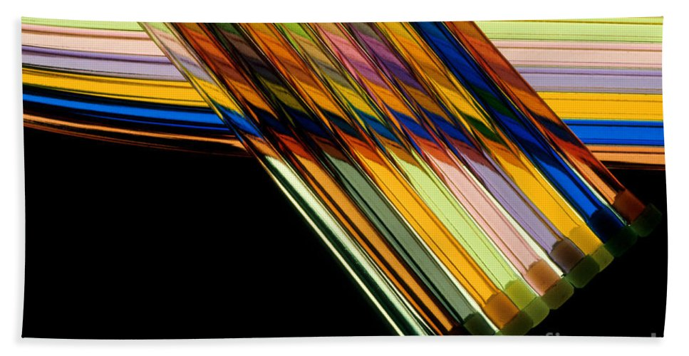 Color Bath Sheet featuring the photograph Industrial Art by Jerry McElroy