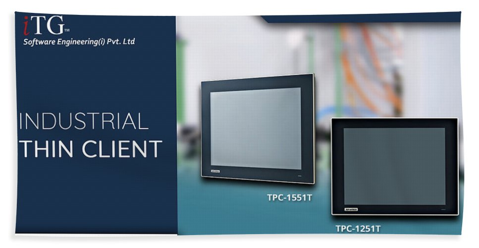 Panel Pc Hand Towel featuring the photograph Industrial Thin Client - Itg India by iTG India