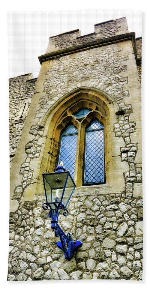 White Tower Hand Towel featuring the photograph Infamous White Tower Of London by Two Small Potatoes