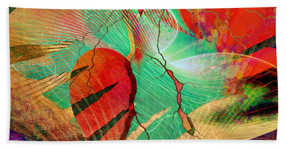 Heart Bath Sheet featuring the digital art Infatuation by Barbara Berney