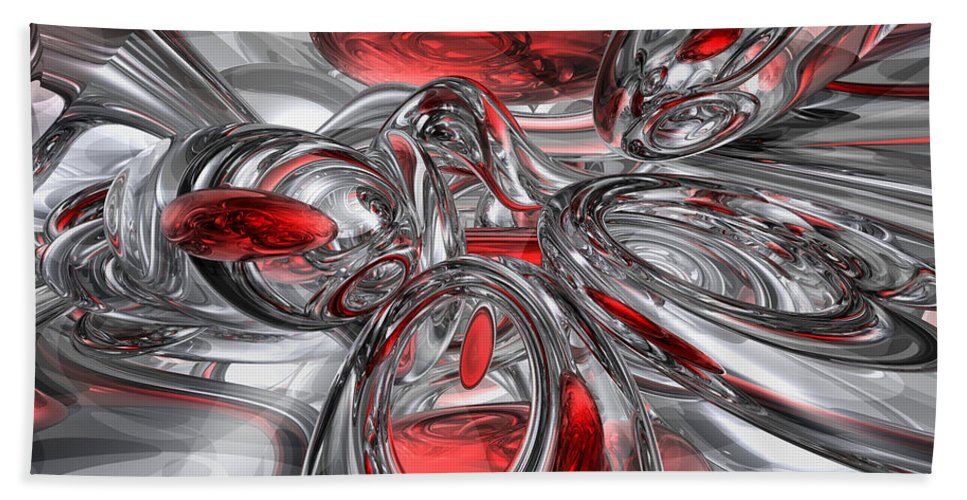 3d Hand Towel featuring the digital art Infection Abstract by Alexander Butler