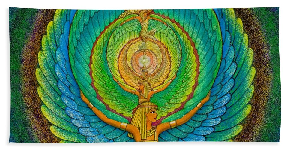 Meditation Hand Towel featuring the painting Infinite Isis by Sue Halstenberg