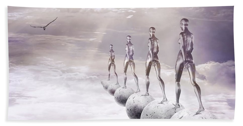 Surreal Hand Towel featuring the digital art Infinity by Jacky Gerritsen