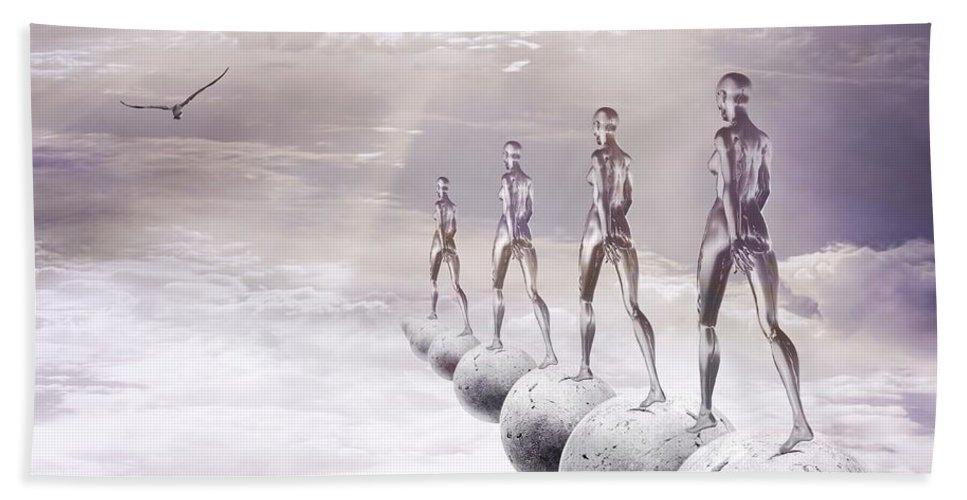 Surreal Bath Towel featuring the digital art Infinity by Jacky Gerritsen