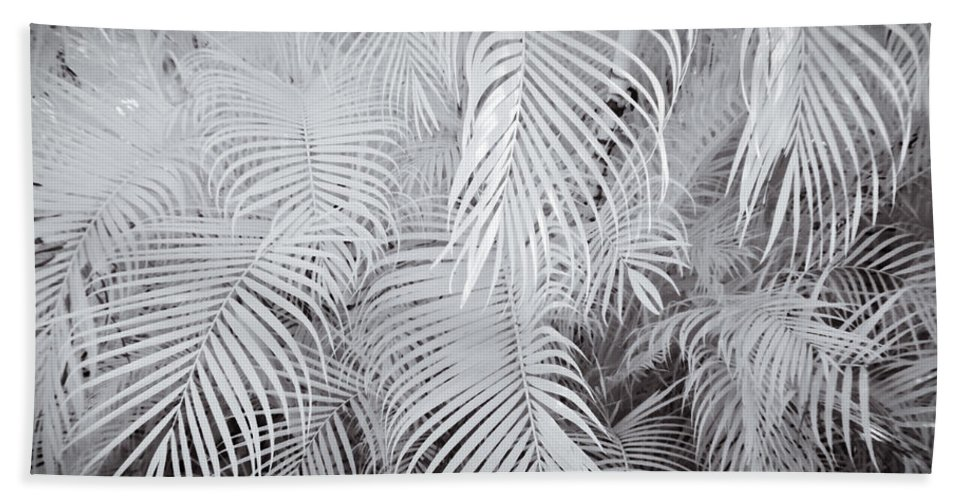 3scape Photos Hand Towel featuring the photograph Infrared Palm Abstract by Adam Romanowicz