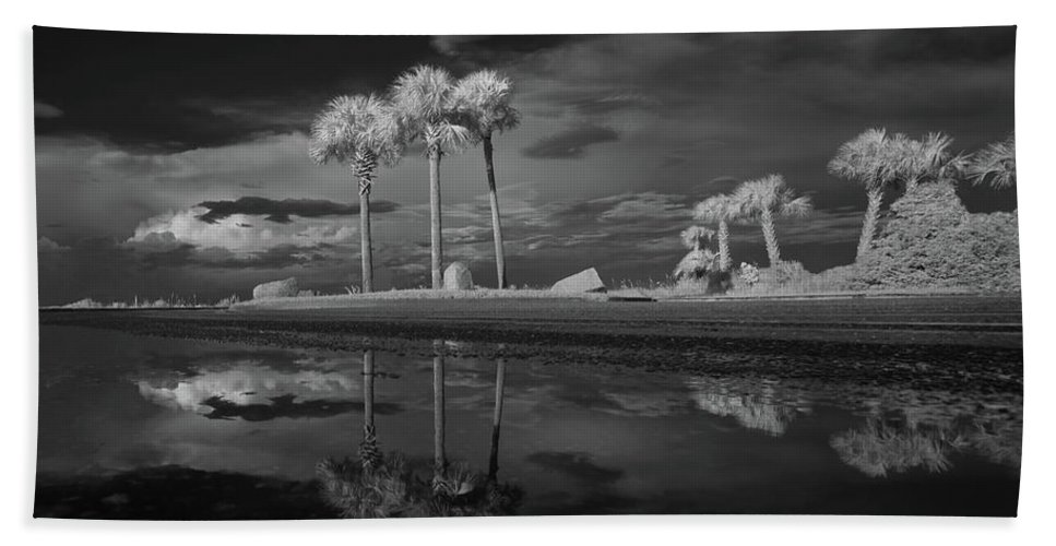 Infrared Hand Towel featuring the photograph Infrared Palms by Gary Allen
